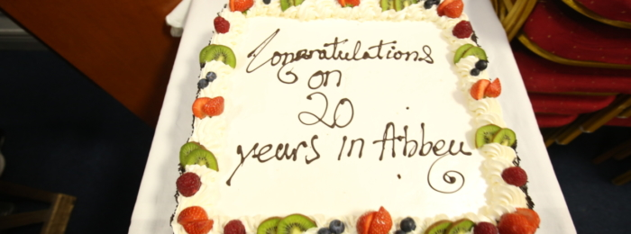 Celebrating Rev Alan Boal 20 years at Abbey